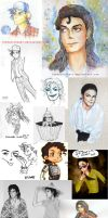 MJ Bday Sketch Dump by inemasterkart
