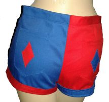 Harley Quinn shorts by The-Rubber-Pineapple