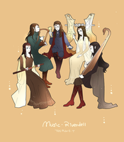 Musicians of Rivendell by akato3
