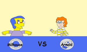 Milhouse vs Arnold by hmcvirgo92