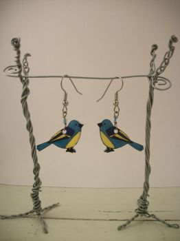 Blue Bird Earrings by knacc