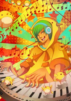 Playing music by Willow-San