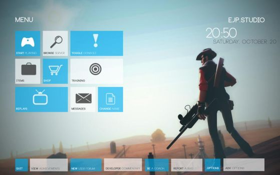 TF2 HUD win8 theme style by almostJP