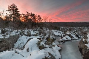 Great Falls Winter Twilight by somadjinn