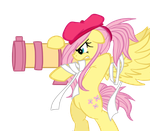 Fluttershy with a cannon by Oathkeeper21