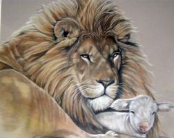 Lion and Lamb by faithr