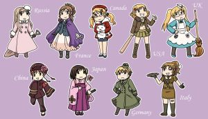 APH: Nyotalia Stickers by likethevirtue