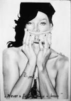 Rihanna Pencil art for a friend FINISHED by turanneth