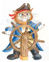 Pirate Captain Cat by bigcatdesigns