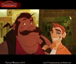 Humanized Timon and Pumbaa by nandomendonssa
