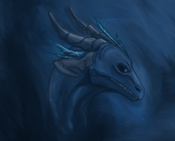 Blue Dragon by DesertDruid
