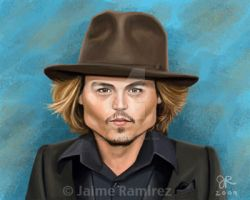 Johnny Depp Caricature by SupermanBatman
