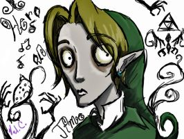 Link meets Tim Burton by girloveslink