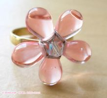 UPCLOSE BABY PINK RING by xlilbabydragonx