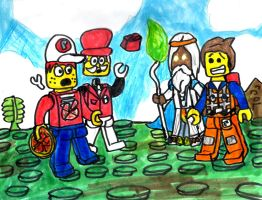 LEGO Young Guys and their Old Mentors by SonicClone