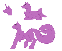 Original Pony Base - Tailmouth Trotting by Shadow-Bases