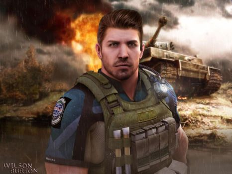 Chris Redfield ART by:Wilson Burton by wilsonBurton20