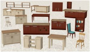 Kitchen Furniture Pack by deexie