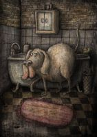 the dog and the bath by samuel123