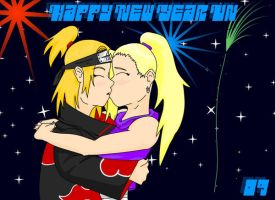 Deidara's New Year 09 by Stelera