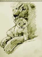 mandatory daily cat sketch 4143 by nosoart