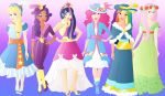 Disneyfied: Mane 6 at twilights Coronation by Willemijn1991