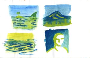 Yellow and Blue watercolour thumbnails 1 by Poorartman