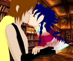 Collab: Book Kiss by Jyuudai