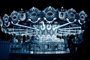 carousel in blue by jesidangerously