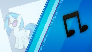 Vinyl Scratch CM Wallpaper by Bardiel83