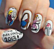 New Year Resolution Nail Art by MadamLuck