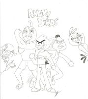 Angry Birds (in my Style) by RockyToonz93