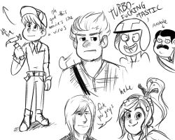 Wreck It Ralph Sketches by swedishreindeer