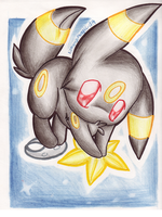 .: Space Umbreon :. by LilMangoMagic
