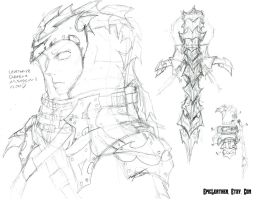 Concept: Dragon Assassin's Hood by Epic-Leather