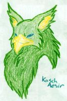 Kasch : Gryphon in Crayon by prettychaos