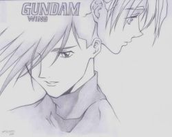 Manga Art :-: Gundam Wing by EmeraldAbsynth