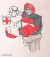 TF Prom Ironhide and Ratchet by Lusikka