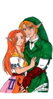 TLOZ - Malon and Link by KeikoWolfgirl