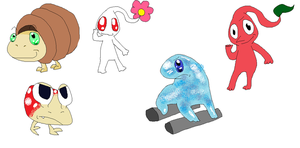 Pikmin Cartoon Style by wwiggles