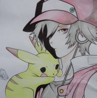 Pokemon Red Drawing Dibujo by Painter-One