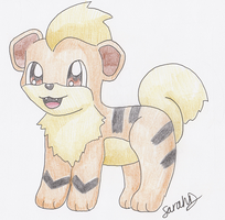 Growlithe by JirachiLegend