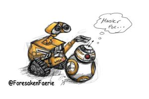 Sketch Dump BB-8 Wall-E by ForesakenFaerie