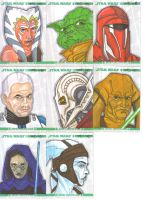 Clone Wars sketch cards 6 by NORVANDELL