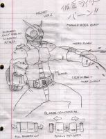 Kamen Rider Burn Rough Draft 2 by Gundamu
