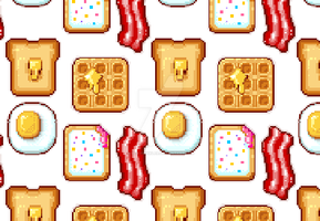 Tutorial: Breakfast Pixel Icons by marywinkler