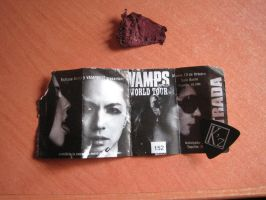 VAMPS Concert Ticket, Barcelona 12.10.2010 by Ilwen