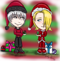 Christmas - Gin and Kira by LadyNoise