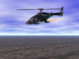 Airwolf blue background sky by Gustvoc