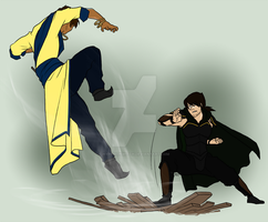 Commission: Tao vs. Or'La by hyperionwitch